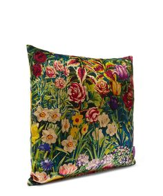 Liberty Art Fabrics Gail's Garden in Dawn Vintage Velvet Cushion | Home | Liberty.co.uk