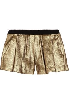 Deans metallic woven shorts by: A.L.C.