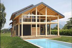 Myotte Duquet architecture bois, Poteau-poutre et red cedar