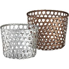 "copper large basket | CB2 Height: 14.25"" Diameter: 17.75"""