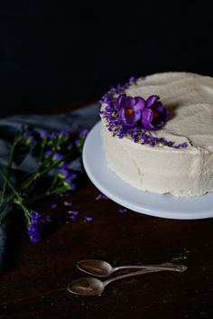 Classic White Almond Sour Cream Cake // And the Tale of the Floating Cake