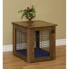 Special Offers – Amish Wooden Chew-Proof Dog Crate Luxurious & Decorative Dog C… - Wood Crates Shipping Dog Kennel End Table, Dog Crate End Table, Wood Dog Crate, Dog Crate Furniture, Crate Bed, Diy Dog Crate, Wood Crates, Furniture Plans, Table Furniture