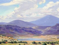 A favorite moment by Abiquiu Lake  Oil by Stede Barber  http://stedebarber.com/works/162061/morning-by-the-lake