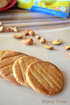 Spicy Treats: Butter Cashew Biscuits / Cookies - My Guest Post @ Good Food