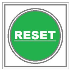 Artistry of Education: Reset Button Writing Prompt
