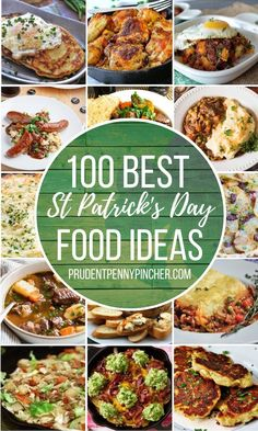 Get the luck of the Irish with these St. Patrick's Day Food ideas. From traditional Irish recipes to festive Irish-inspired foods. There are St Patrick's Day recipes for dinner, side dishes, desserts, drinks, appetizers and even breakfast! Supper Recipes, Chef Recipes, Crockpot Recipes, Vegetarian Recipes, Bisquick Recipes, Copycat Recipes, Easy Recipes, Dinner Side Dishes, Dinner Sides