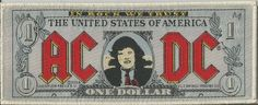 AC/DC Banknote Woven Patch Sew On Official Band Merch