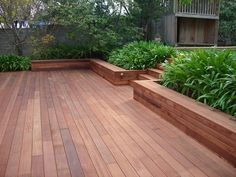 Decks Merbu Deck with Planter box's by Leisure Decking Timber Decking Melbourne - Leisure Decking, Carpenter, Ferny Creek, VIC, 3786 - TrueLocal Wooden Decks, Timber Deck, Outdoor Rooms, Deck Design, Building A Deck, Deck Bench Seating, Backyard Seating Area, Deck Designs Backyard, Outdoor Design