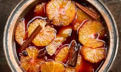 Hugh Fearnley-Whittingstall's Oranges in mulled wine syrup