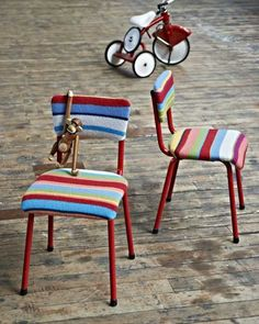 estofados cadeira listrada