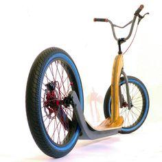 Home - holz-bike - holz-bike. Scooter Bike, Kick Scooter, Scooter Custom, Custom Bikes, Electric Skateboard, Electric Scooter, Lowrider Bicycle, Drift Trike, Harley Bikes