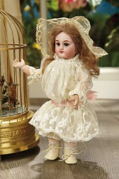 Sanctuary: A Marquis Cataloged Auction of Antique Dolls - March 19, 2016: Petite German Bisque Child, 749, by Simon and Halbig