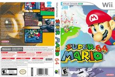 Super Mario 64 (Virtual Console) CUSTOM WII CASE (NO GAME)
