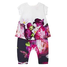 This set from the Baker by Ted Baker range will make a pretty addition to a girl's weekend wardrobe. Made purely from cotton, each piece is presented in a colourful floral pattern. Ted Baker Baby, Harem Trousers, Girls Weekend, Mother And Baby, Debenhams, Toddler Outfits, Floral Prints, Rompers, Pretty