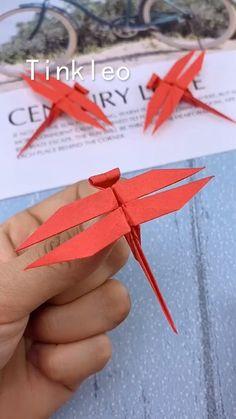 Origami Wall Art, Instruções Origami, Paper Crafts Origami, Diy Paper, Paper Crafting, Origami Videos, Oragami, Origami Toys, Origami Dragon