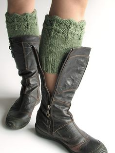 Hand Knitted Openwork Boot Cuffs Boot Toppers by milleta on Etsy www.etsy.com/shop/milleta
