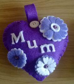Felt Mum heart