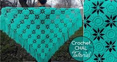Crochet shawl patterns for beginners. ~ ✁ CK Crafts