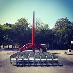 Conclave, 1984 Forged, fabricated, and painted steel  Re-finished and re-sited at The College at Brockport State University of New York 2014.