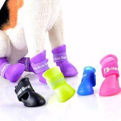 Dog Shoes Pet Dog Waterproof Shoes Anti slip design Teddy Rain Boots Shoes Fashion Brand Pet Outdoor Shoes FG
