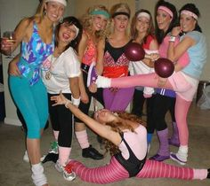 80's gym wear party!! LOVEE!