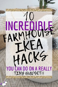 Farmhouse Ikea hacks that will give your home a cozy farmhouse style that looks way more expensive than it actually is! I don't know about you but I just cannot get enough of Ikea & Ikea hacks… if you love. Farmhouse Kitchen Interior, Diy Kitchen Decor, Rustic Farmhouse Decor, Farmhouse Front, Better Homes And Gardens, Diy On A Budget, Decorating On A Budget, Ikea Hacks, Desk Hacks