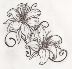 http://tattoomagz.com/tiger-lily-tattoo-designs/tiger-lily-by-lettherainfalldown-on-deviantart/