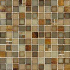 glass tile manhattan blend glass mesh mounted mosaic wall tile smot glsmt - Backsplash Tile Home Depot