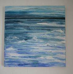 Original Mixed Media Painting of The Sea by yarnsandfabrics,