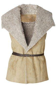 RAXEVSKY CHARLENE Shearing Camel Vest - CLOTHING | JACKETS/CARDIGANS | PRET-A-BEAUTE.COM