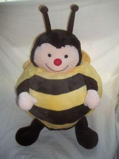 American Mills Stuffed Animal Plush Bumble Bee Yellow Black Big Fat Round Pillow | eBay