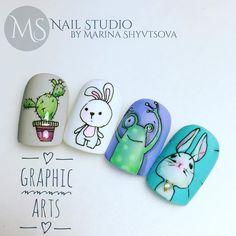 Fails Design Cute Disney Ideas For 2019 Nail Art Hacks, Gel Nail Art, Nail Swag, Aloha Nails, French Nails, Unicorn Nail Art, Romantic Nails, Animal Nail Art, Easter Nail Art
