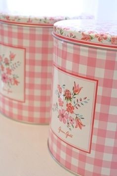 French Country Shabby Chic Kitchen Tin Canisters  Love these, but maybe in a color that better goes with my kitchen.
