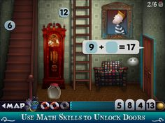 Mystery Math Town ($2.99) Use your math skills to rescue the fireflies in Mystery Math Town for ages 6-12 and up.  Math practice integrated with a rich, immersive game experience  • Multiple user accounts - create your own avatar  • Customizable math skills for each player:  - Addition  - Subtraction  - Multiplication  - Varied Number Representations (dice and tallies)  • Players develop math thought by building equations, not just tapping answers