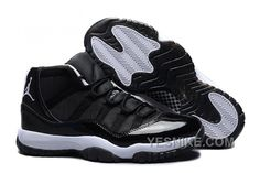 """http://www.yesnike.com/big-discount-66-off-air-jordan-11-xi-retro-tuxedo-black-white-for-sale.html BIG DISCOUNT! 66% OFF! AIR JORDAN 11 (XI) RETRO """"TUXEDO"""" BLACK WHITE FOR SALE Only $96.00 , Free Shipping!"""