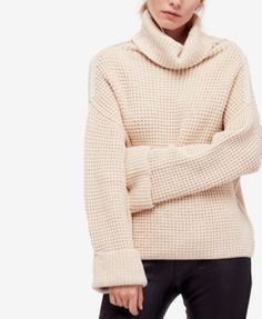 FREE PEOPLE Free People Park City Turtleneck Sweater. #freepeople #cloth # sweaters