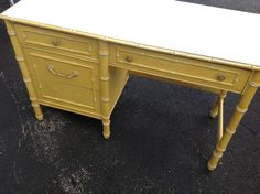 Faux Bamboo Desk Hollywood Regency style at by RetroDaisyGirl, $335.00