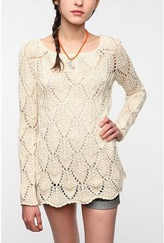 Staring at Stars Crochet Swing Tunic Sweater from urban outfitters