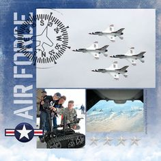 Air Force Digital Scrapbooking Kit – Honor Military Service & Veterans