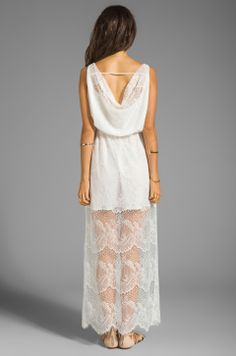 MM Couture by Miss Me Lace Maxi Dress in White