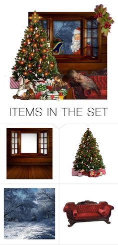 """""""I still believe in Santa."""" by barebear1965 ❤ liked on Polyvore featuring art"""