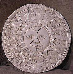 MEDIUM SUN MOON AND STARS PLAQUE $17.00 - HOME DECOR & GARDEN DECOR