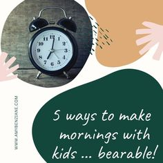 It's been nearly half a decade since I got a good night's sleep, let alone a lie in. Having a baby, or a toddler, or a child, is not always conducive to such ambitions. Here are five ways I try to make mornings with a little one bearable.