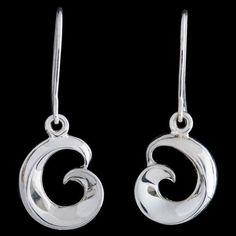 Silver Maori Para Earrings