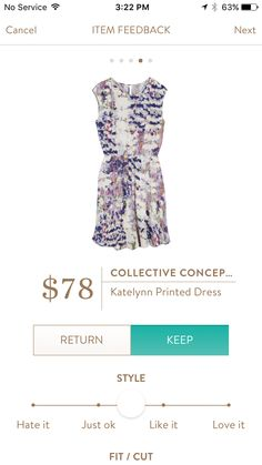 Collective Concepts Katelynn Printed Dress. I love Stitch Fix! Personalized styling service and it's amazing!! Fill out a style profile with sizing and preferences. Then your very own stylist selects 5 pieces to send to you to try out at home. Keep what you love and return what you don't. Try it out using the link! #stitchfix https://www.stitchfix.com/referral/5634870
