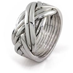 Mens 8 band STERLING SILVER Puzzle Ring 84SM