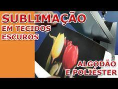 IMPRIMANET: Maneira CERTA estampar / sublimar TECIDOS ESCUROS com OBM ( poliéster ou algodão ) - YouTube