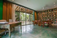 """Author Sandra Cisneros has sold her King William home — the same structure that stirred controversy in the late for its """"periwinkle purple"""" color — to an undisclosed buyer, Phyllis Browning real estate agent Ann Van Pelt confirmed Wednesday. Sandra Cisneros, Floor Stain, Library Wall, King William, Texas Homes, Reading Nook, Bookshelves, Home And Family, Sweet Home"""