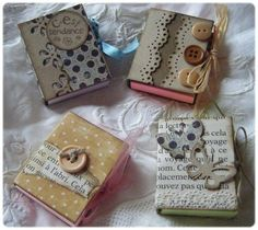 Mini post it decorati come libri. Tuto mini post it - these are supercute! Maybe I can make a normal sized notebook with just as cute covers 3d Paper Crafts, Paper Gifts, Diy And Crafts, Diy Projects To Try, Craft Projects, Project Ideas, Craft Gifts, Diy Gifts, Book Making