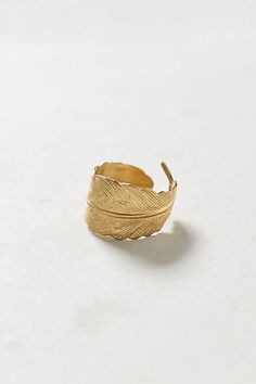 Arced Feather Ring    #anthropologie